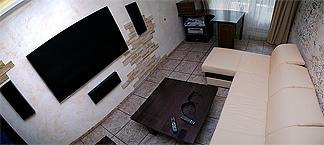 Домашний кинотеатр с ресивером и Blu-Ray проигрывателем